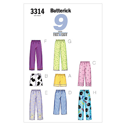 Butterick Misses Sleep & Lounge-B3314