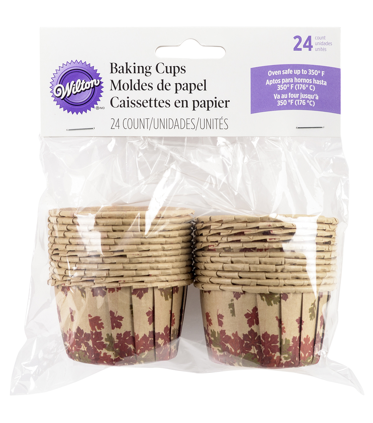 Wilton® Bakeable Nut Cups-Cozy Fall 24/Pkg