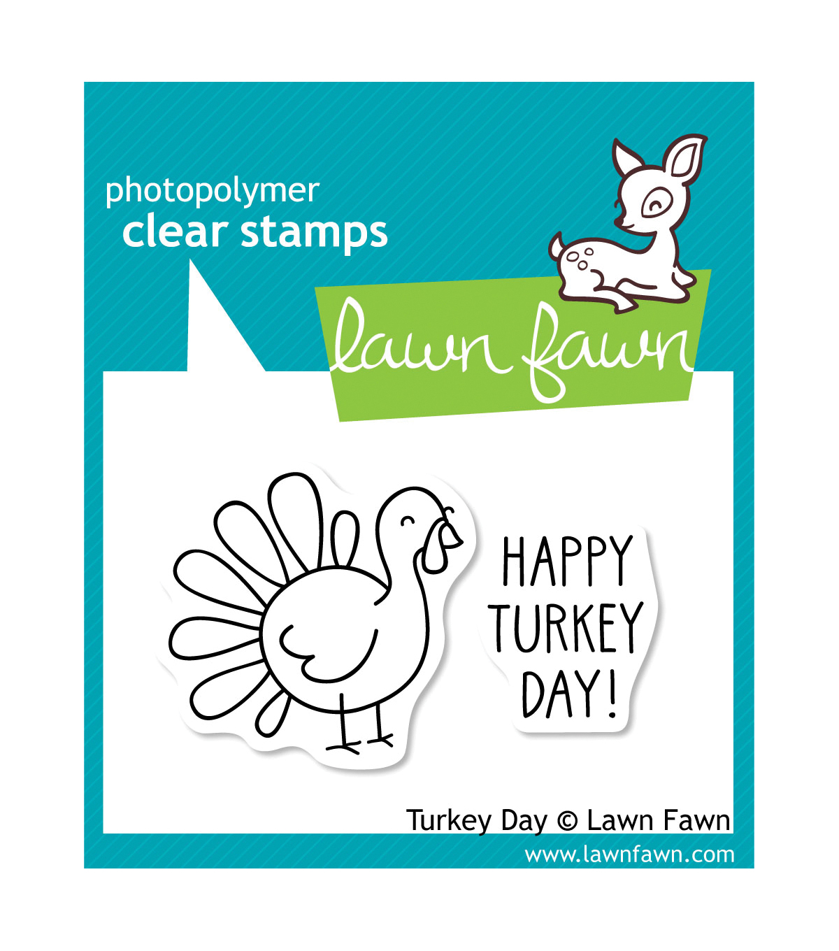 Lawn Fawn Clear Stamps 3\u0022X2\u0022-Turkey Day