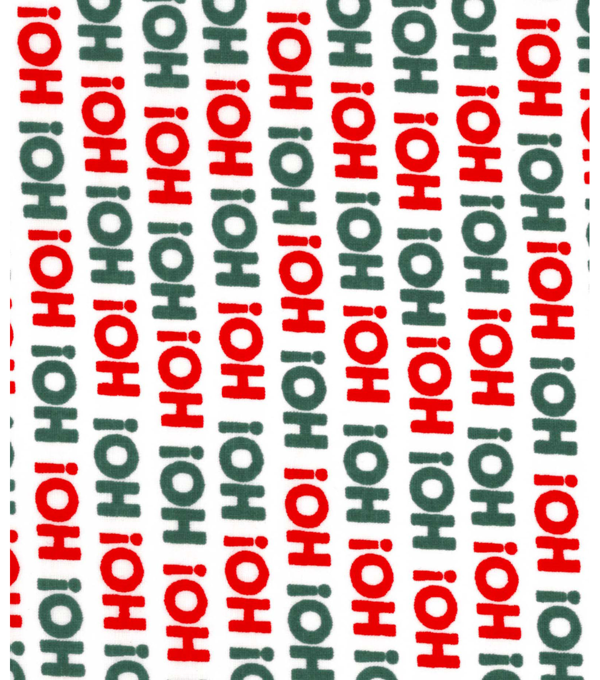Holiday Showcase™ Christmas Cotton Fabric 43''-Ho! Ho! Ho! on White