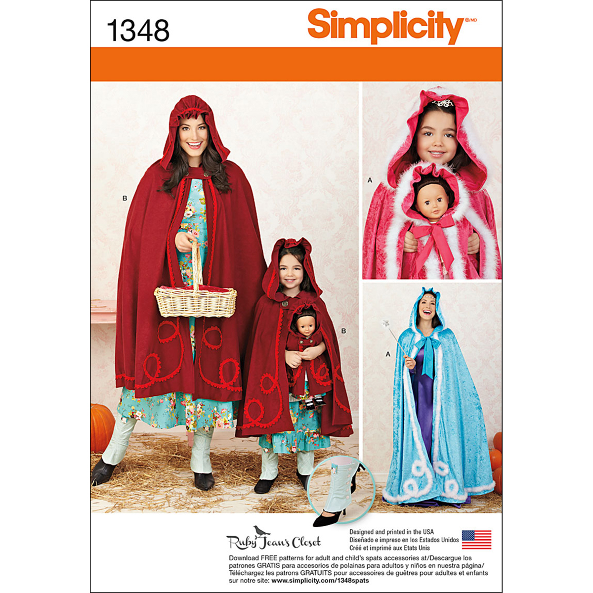 Simplicity Pattern 1348A 3 - 8 /Xs--Crafts Costumes