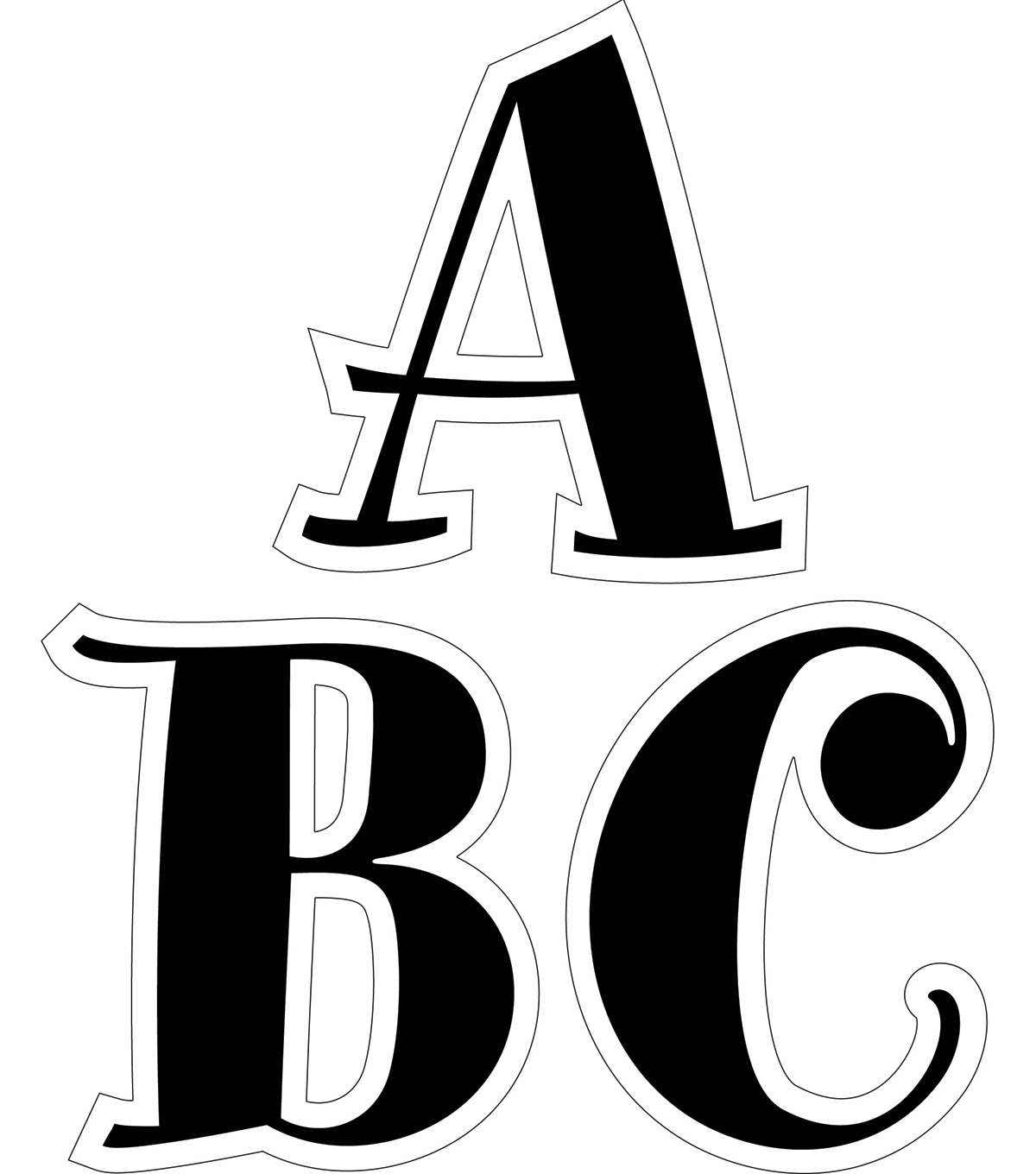 Bw Collection: Black Spumoni 2\u0022 Letter Stickers