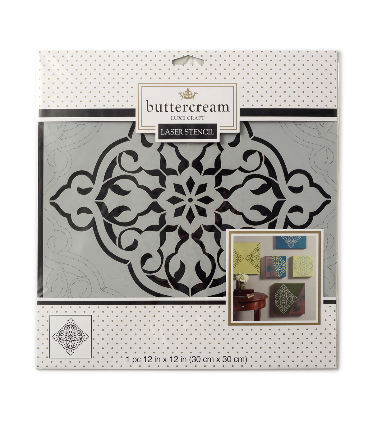 Buttercream Elizabeth Collection Large Stencil-Moroccan Clover