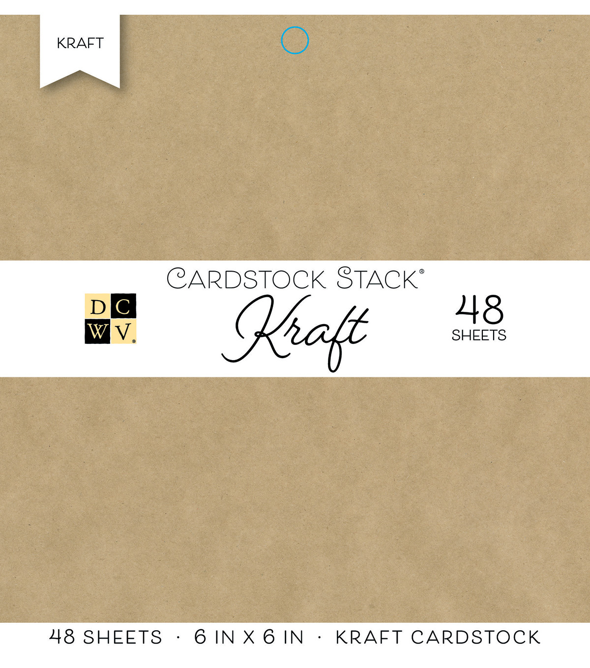 DCWV Pack of 48 6\u0027\u0027x6\u0027\u0027 Cardstock Stack-Kraft