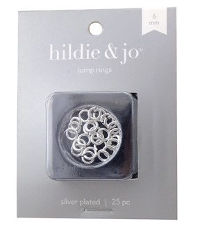 6mm Sterling Silver Plated Jump Rings, 16 gauge, 25pc