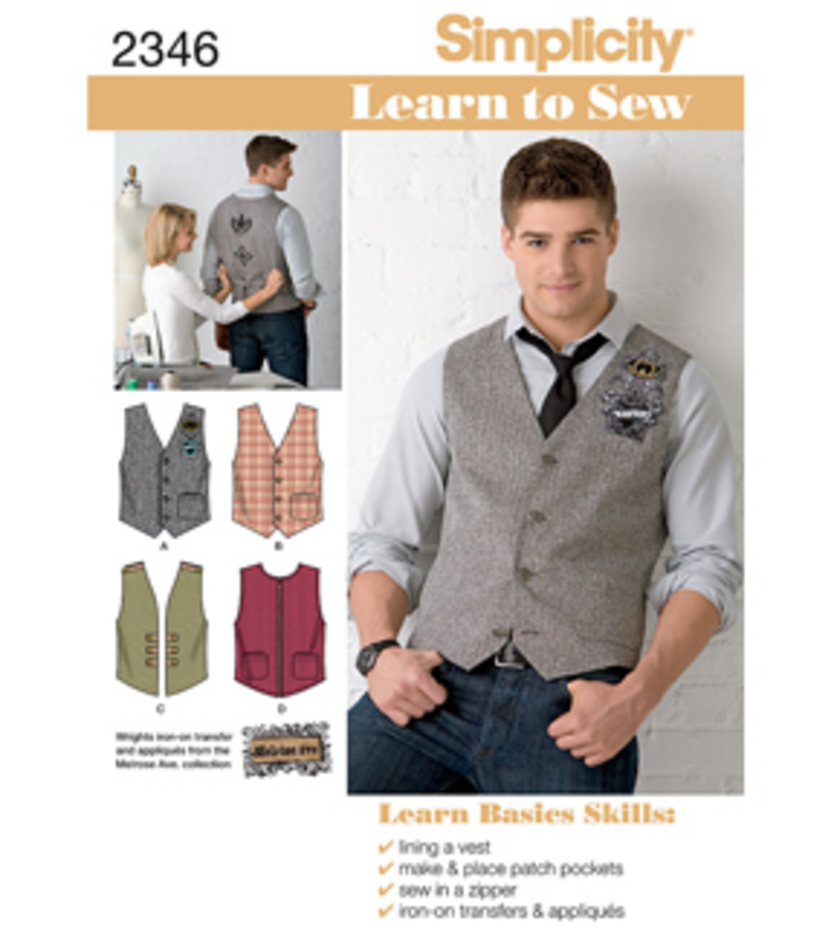 Simplicity Pattern 2346AA 34-36-38-4-Simplicity Men Boy