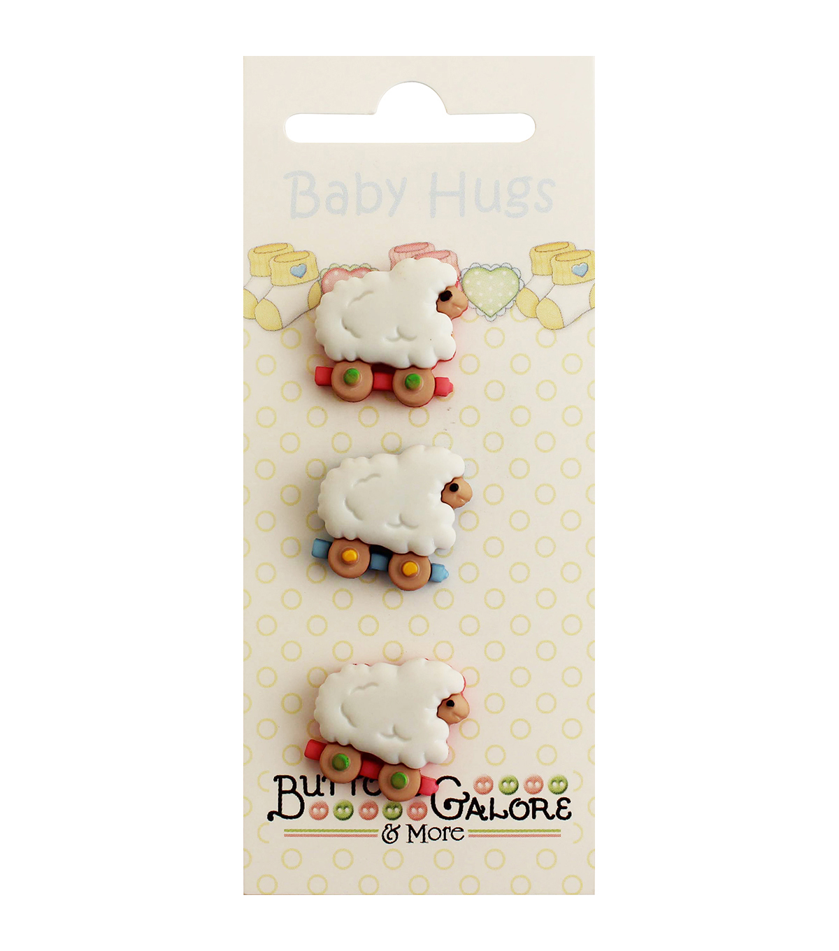 Buttons Galore Baby Hugs Sheep Buttons