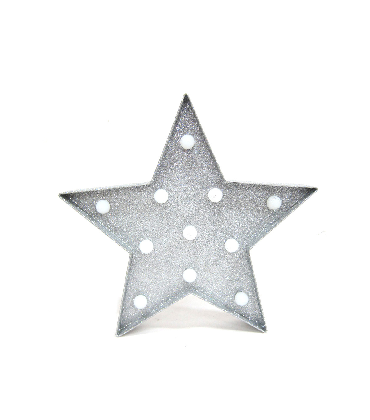 Holiday Cheer Plastic Led Star-Silver