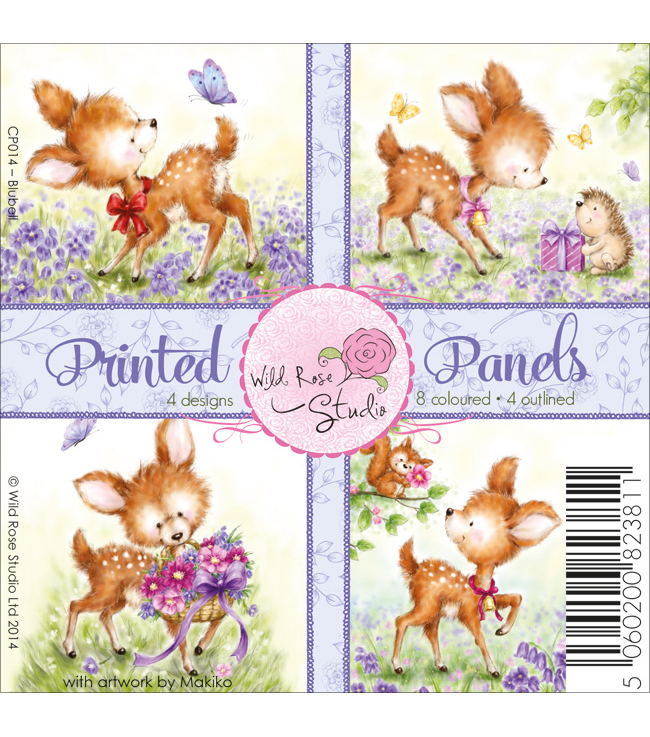 "Wild Rose Studio Ltd. 4""X4"" Printed Panels 12/Sheets-Bluebell"