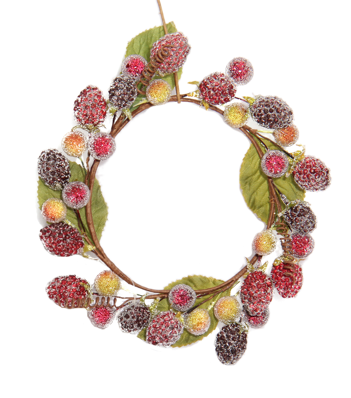 Blooming Holiday Raspberry Mini Wreath