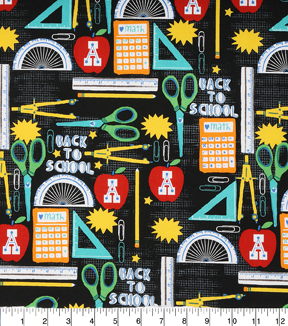 Novelty Cotton Fabric 43\u0022-Back To School