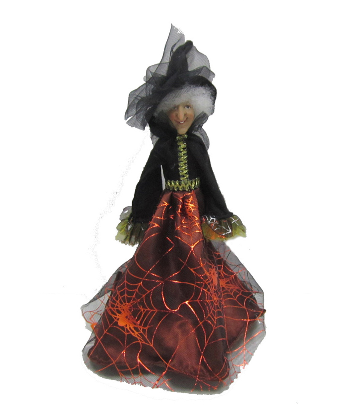 Maker\u0027s Halloween Standing Witch Doll with Orange Skirt