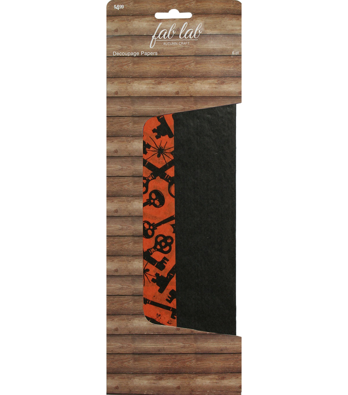 Fab Lab™ Halloween  Decoupage Papers Skeleton Key 6 Pack