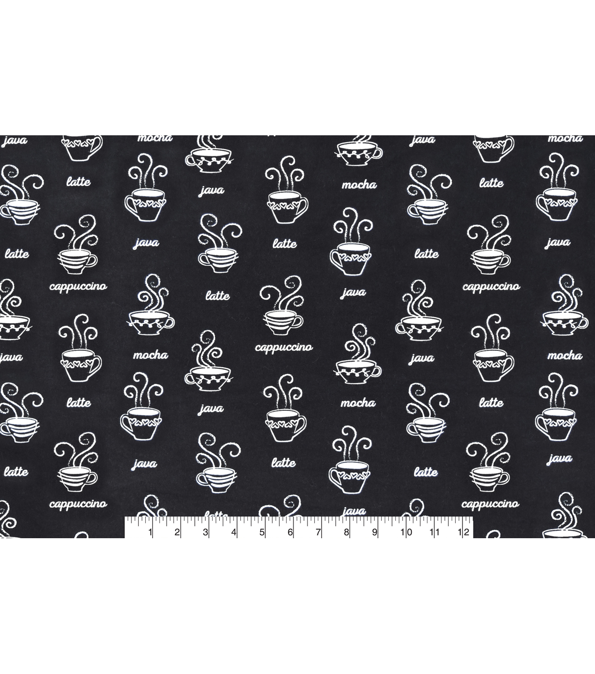 Snuggle Flannel Fabric 42\u0027\u0027-Coffee Types