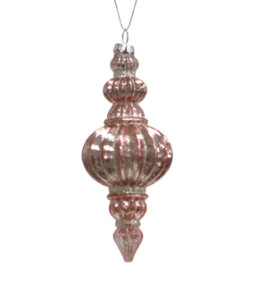 Maker\u0027s Holiday Christmas Holiday Charm Decorative Drop Ornament-Pink