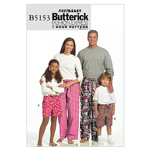 Butterick Pattern B5153 Adult Unisex Sleep & Lounge-Size S-XL