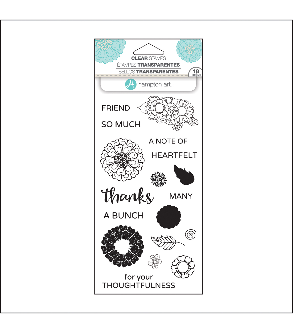 Hampton Art™ Layering Clear Stamp-Flower Thanks