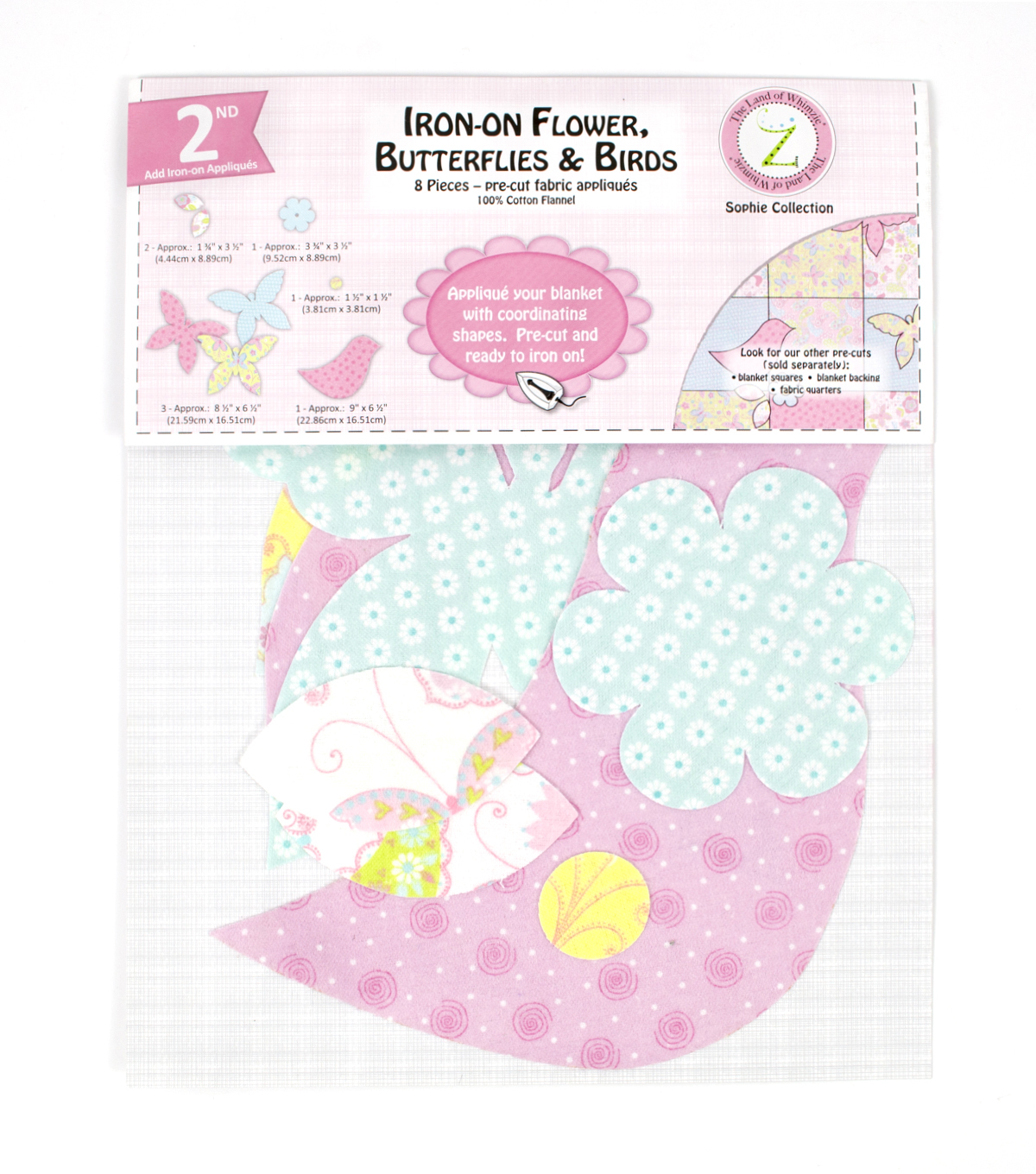 Land of Whimzie Sophie Flannel Iron-On Appliques