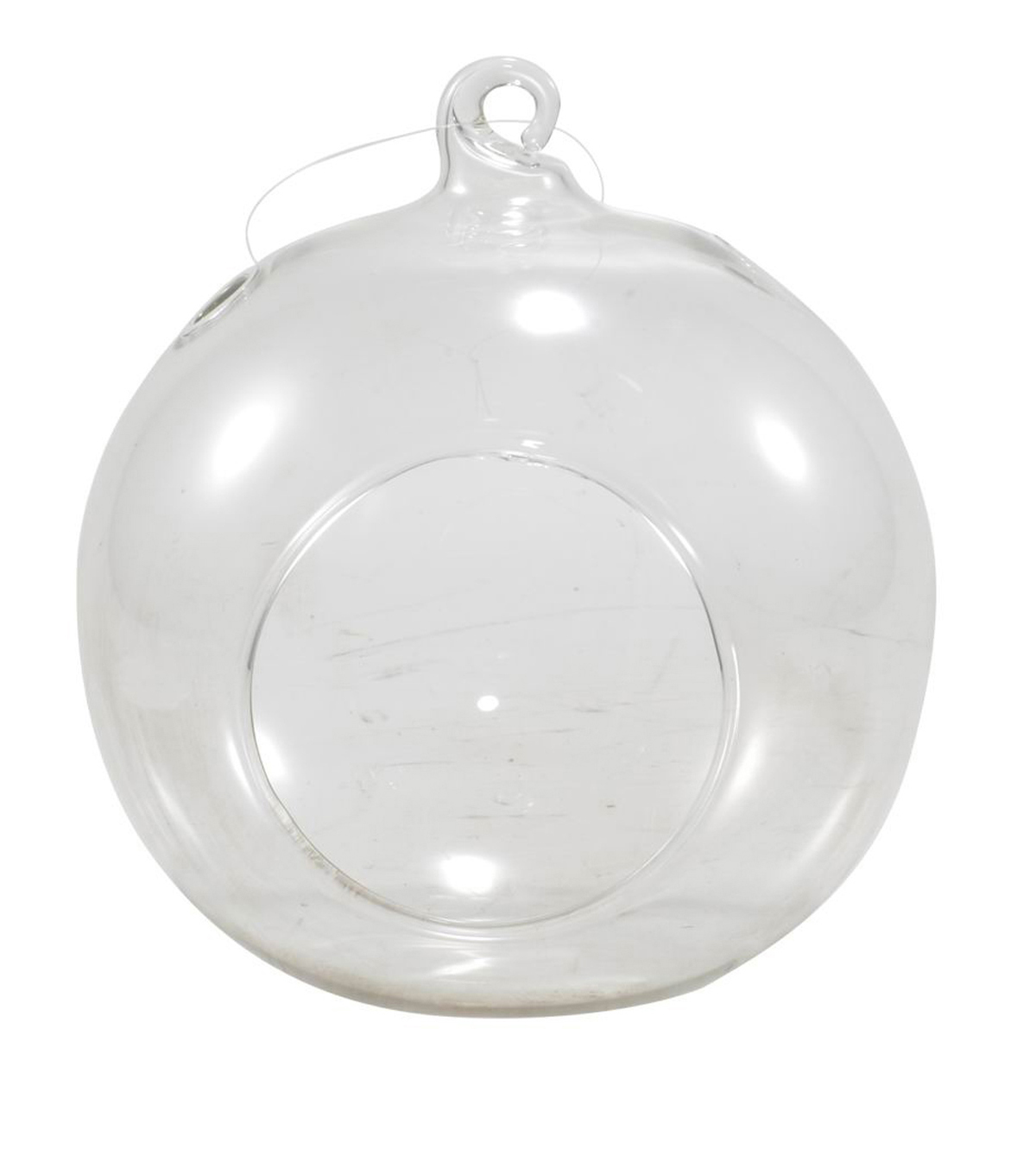 Bloom Room Large Glass Hanging Rooter-Clear Round