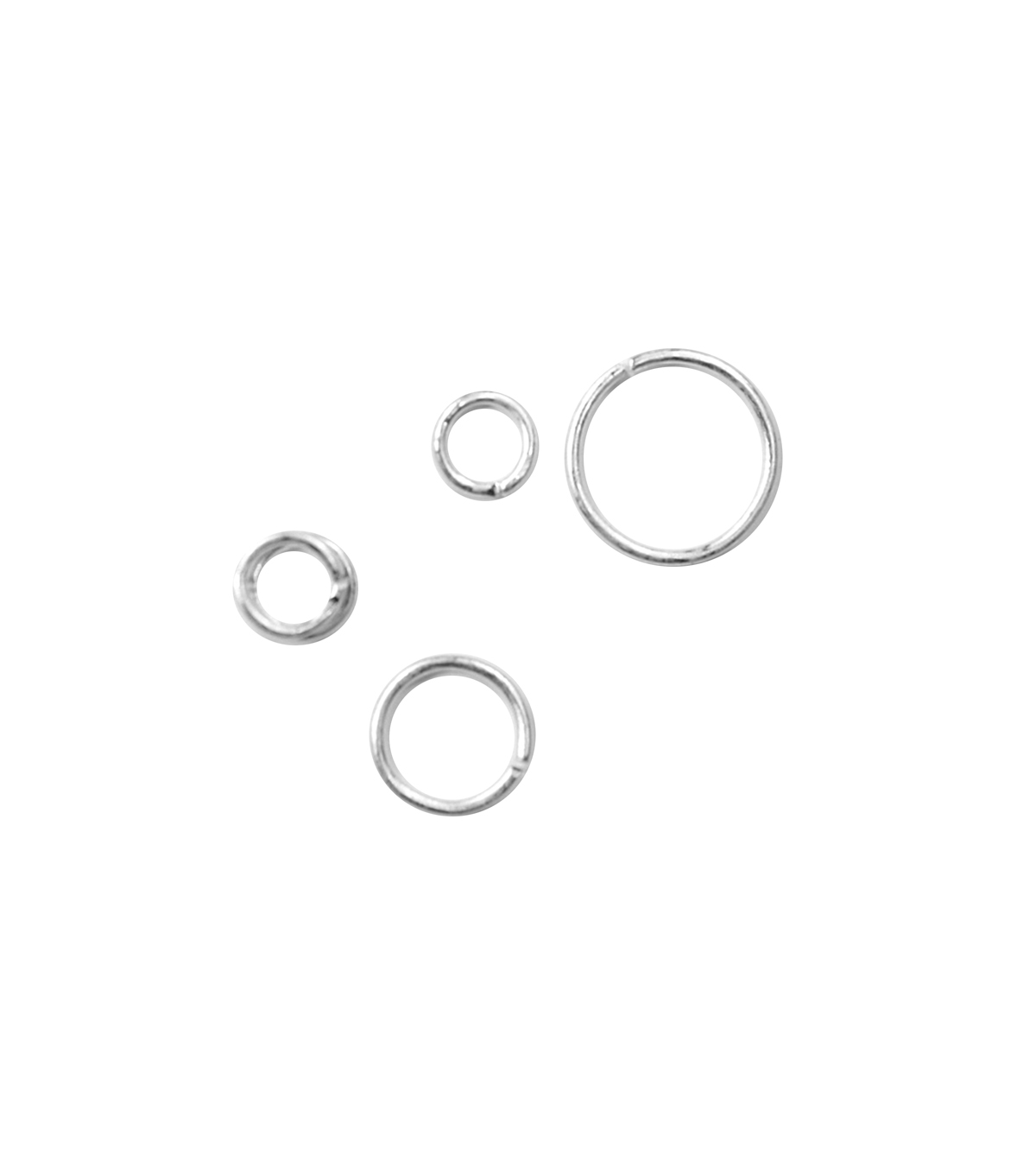 Blue Moon Findings Jump Ring Metal 4, 6 & 8mm Matte Silver