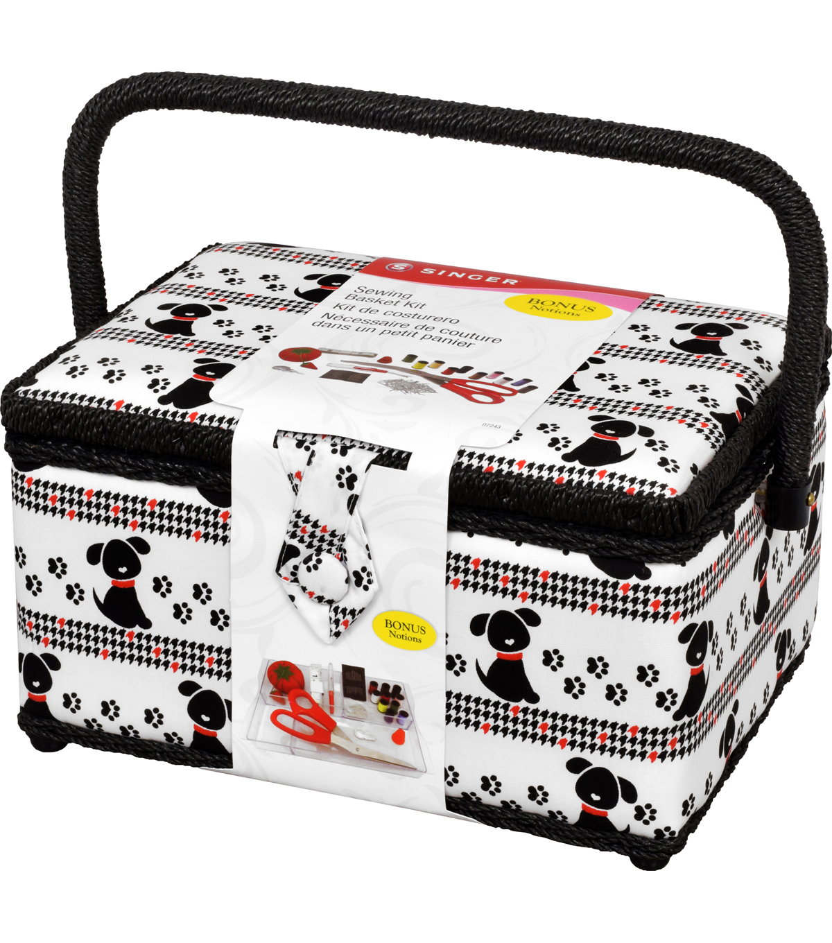 Singer® Large Sewing Basket with Notions Kit-Pet Trax Puppy