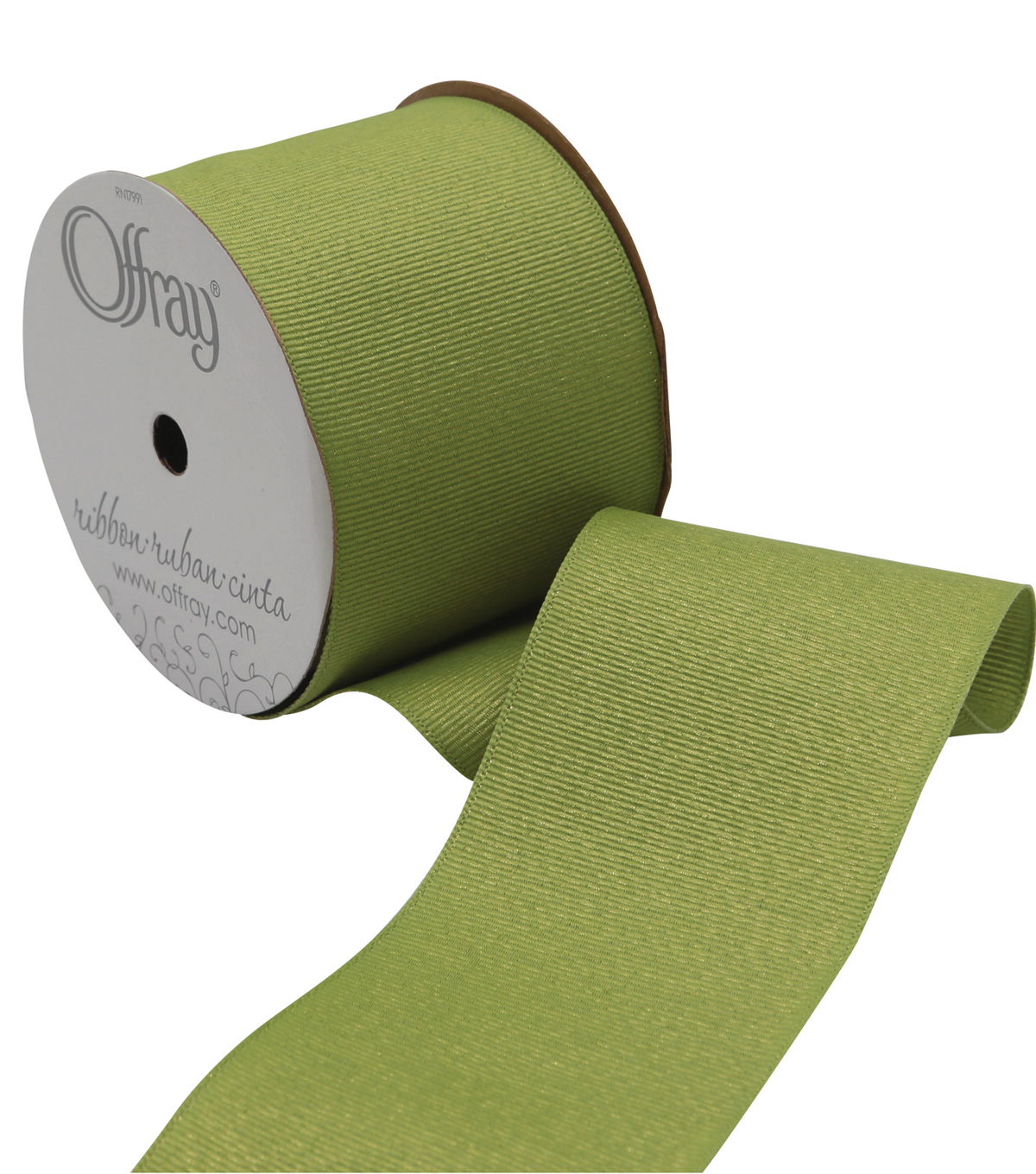 2 And One Qtr Grosgrain Glitz Lime Juice Ribbon