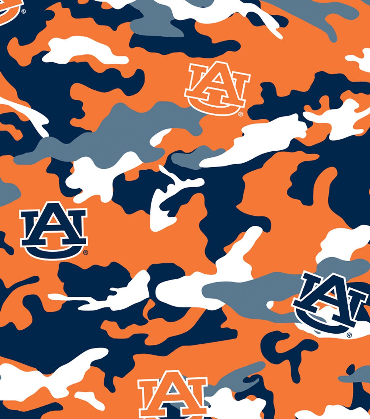 Auburn University Tigers Cotton Fabric 44\u0022-Camo