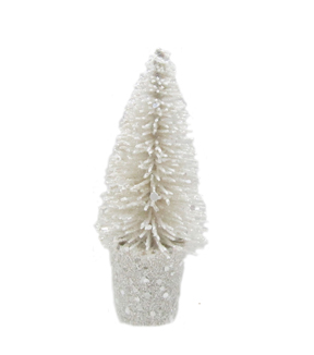 Maker's Holiday Small Sisal Tree-White