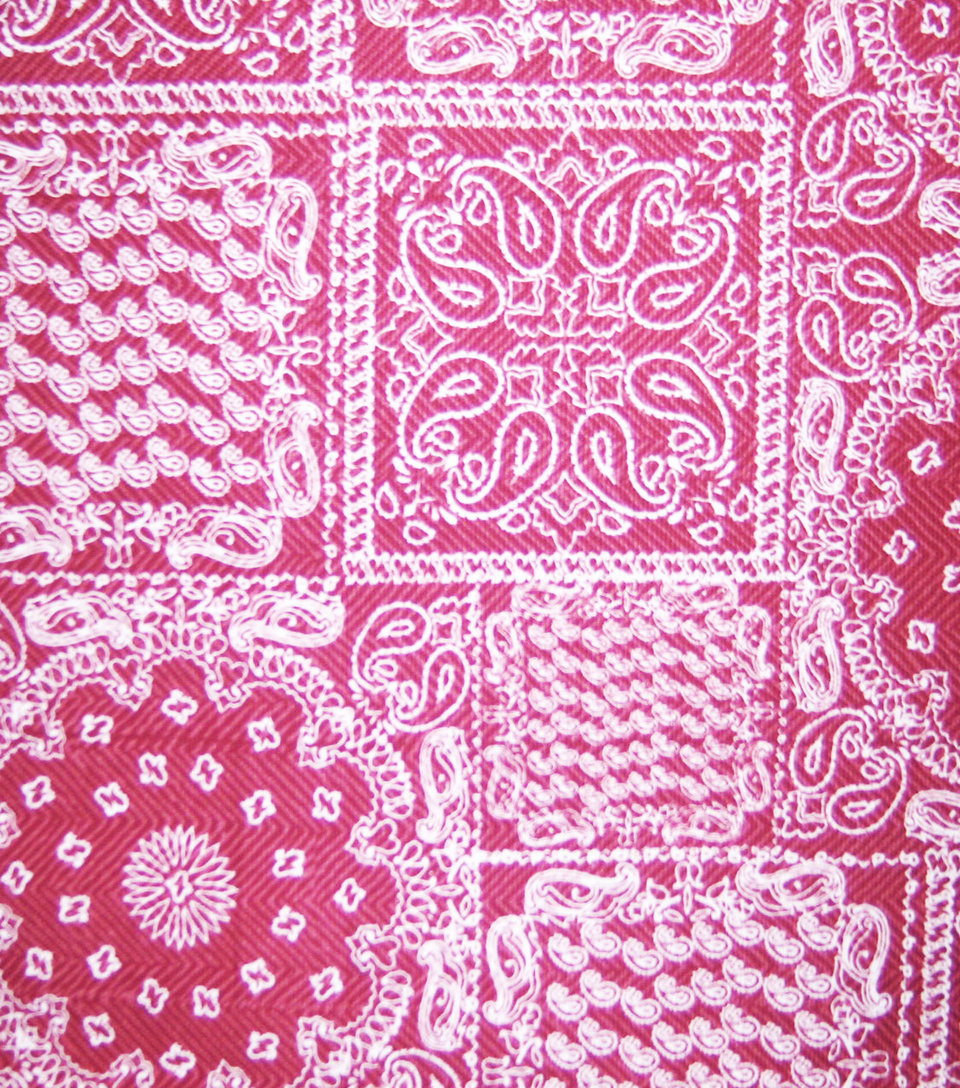 "Home Essentials Print Fabric 45""-On The Farm Bandana Red"