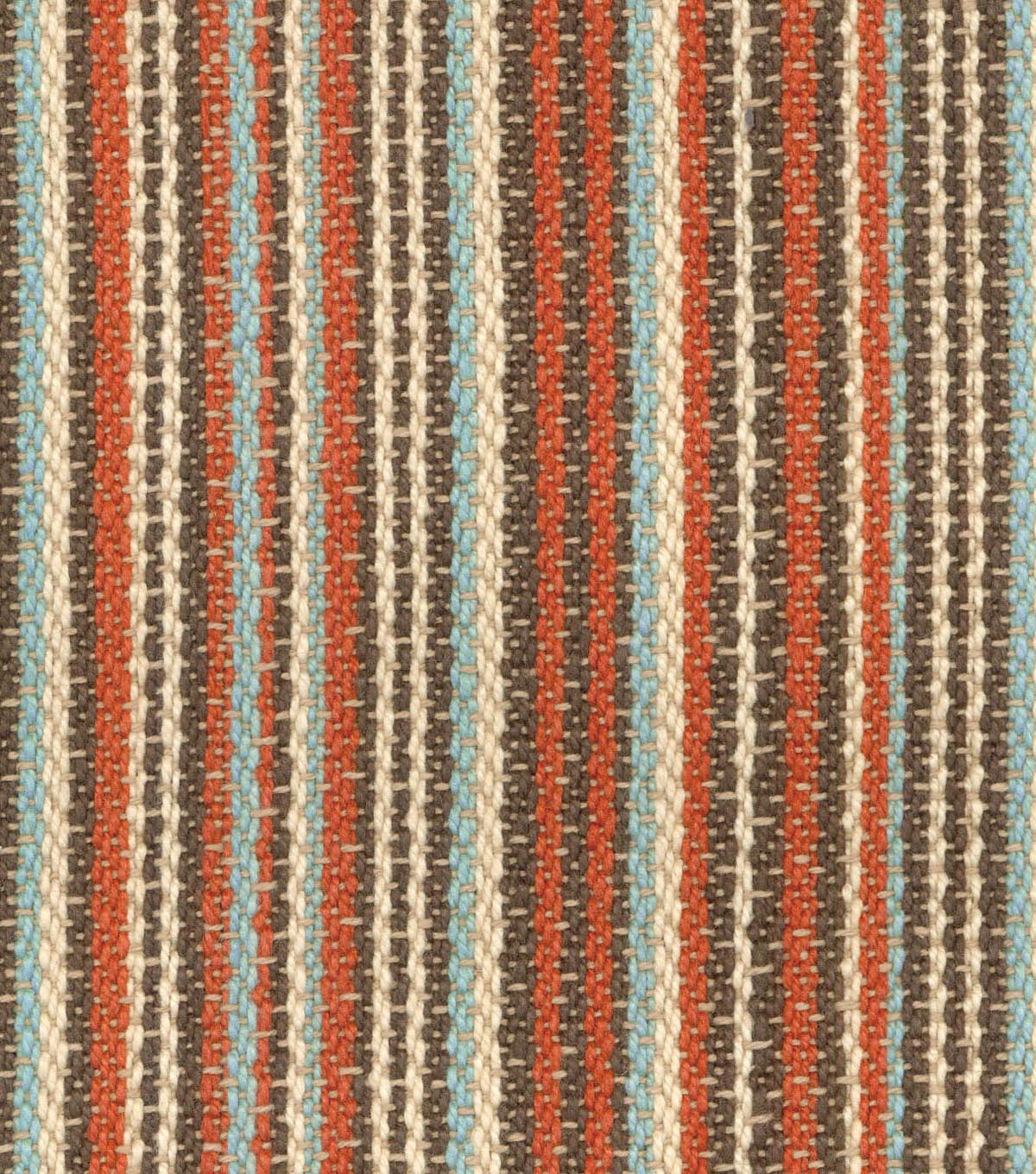 Waverly Upholstery Fabric 54\u0027\u0027-Cinnabar Rustic Stripe