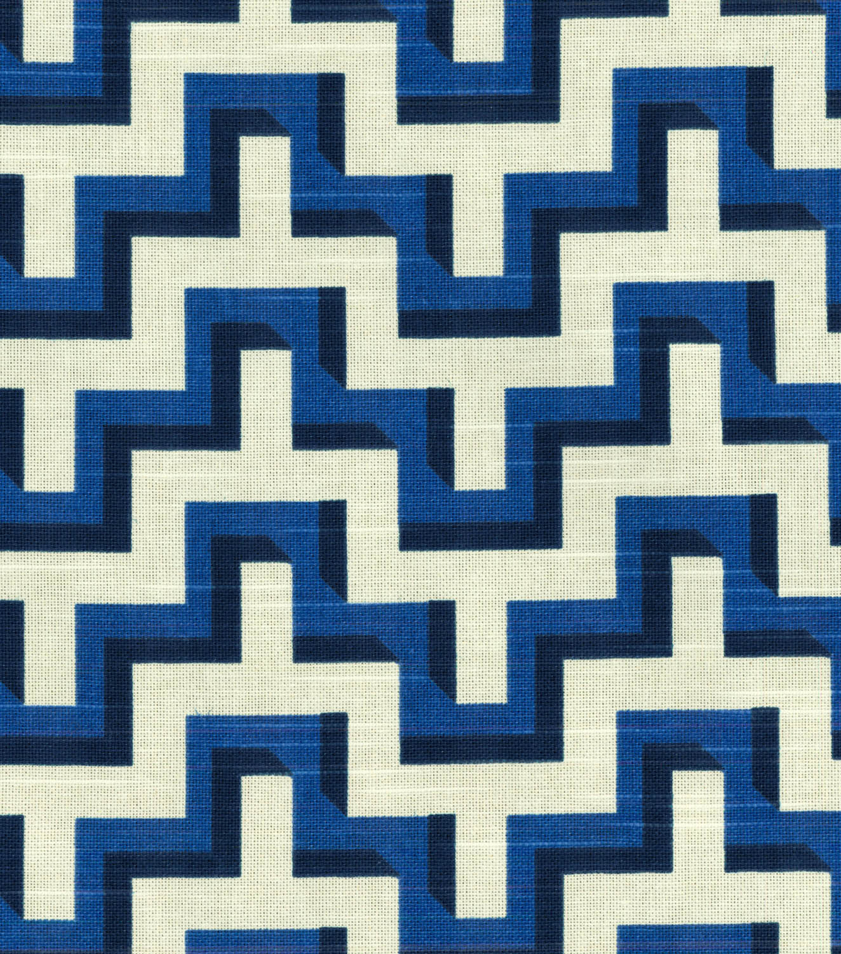 HGTV HOME Home Decor Print Fabric- Jigsaw  Lapis