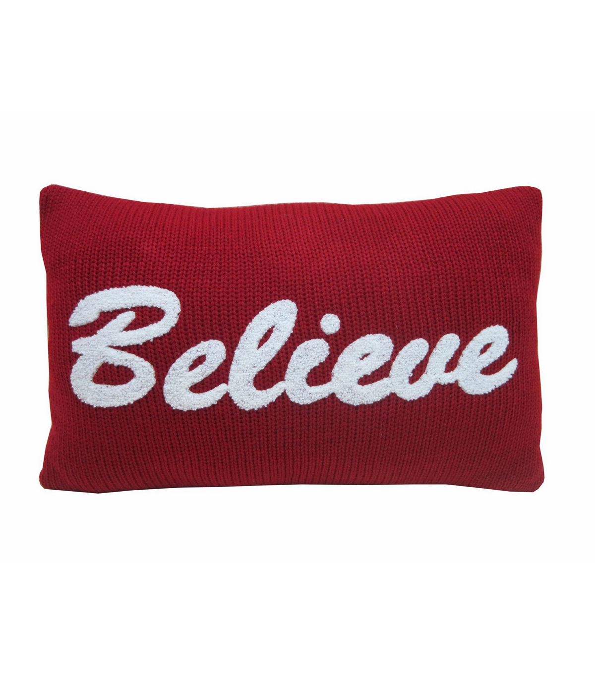Maker\u0027s Holiday Pillow-Red Believe