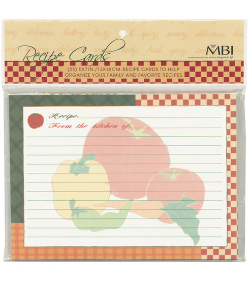 5\u0022x7\u0022 Family Recipse 3-Ring Scrapbook Kit Refills-25PK