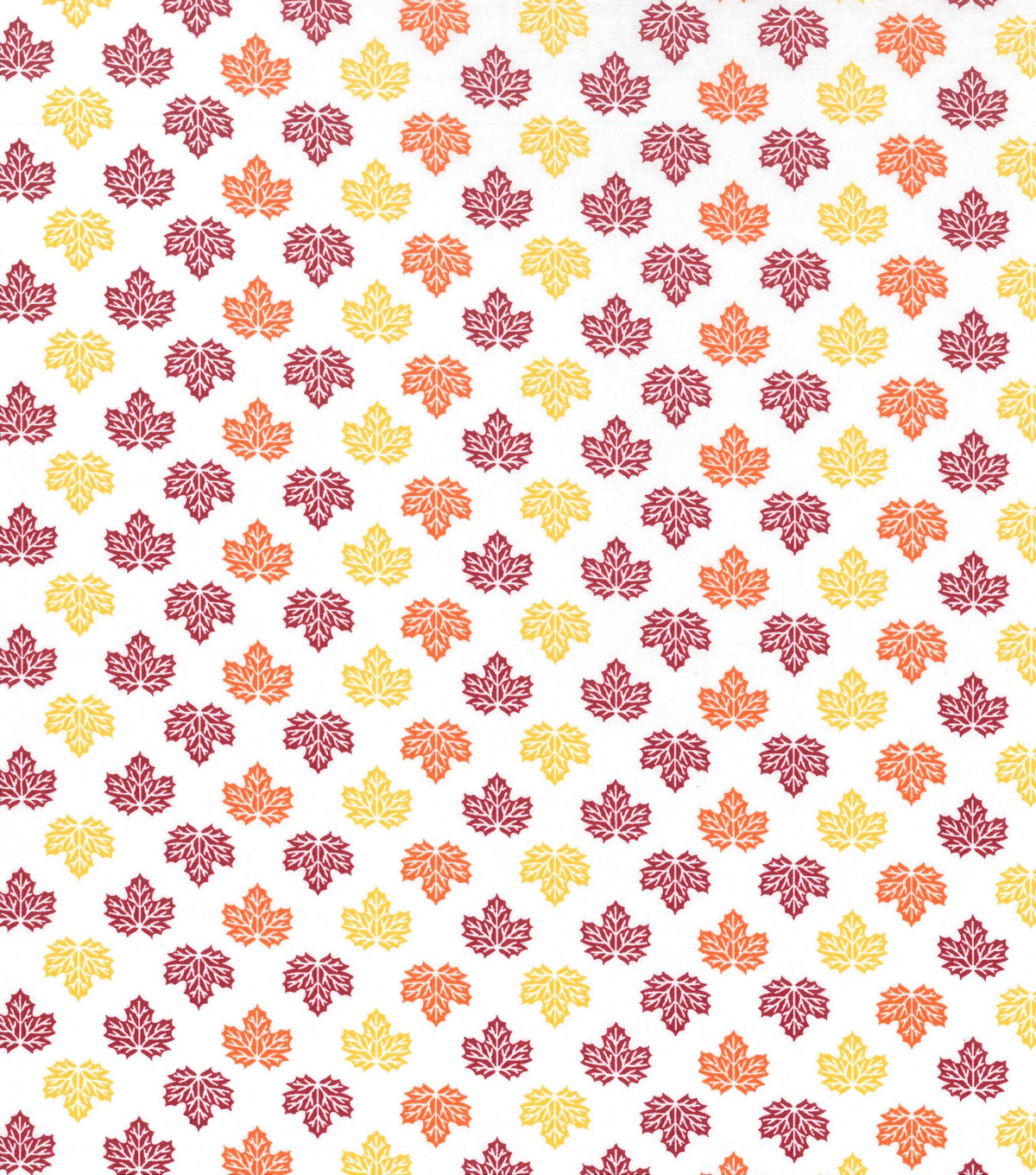 Holiday Showcase™ Harvest Cotton Fabric 43\u0022-Mini Leaves Multi