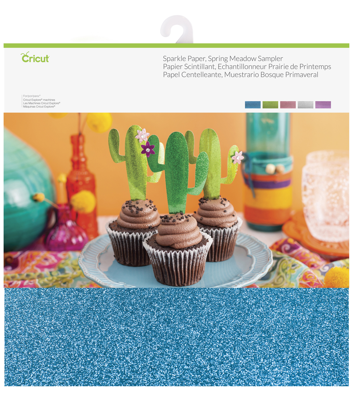 Cricut® 10 Pack 12''x12'' Sparkle Paper Samplers-Spring Meadow