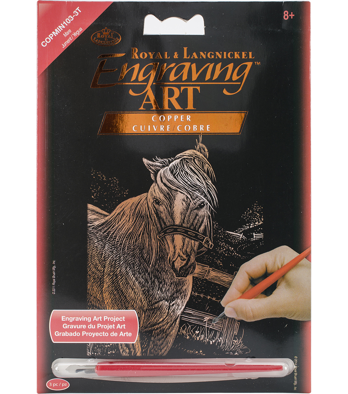 Royal Langnickel Copper Foil Mare Engraving Art Mini Kit