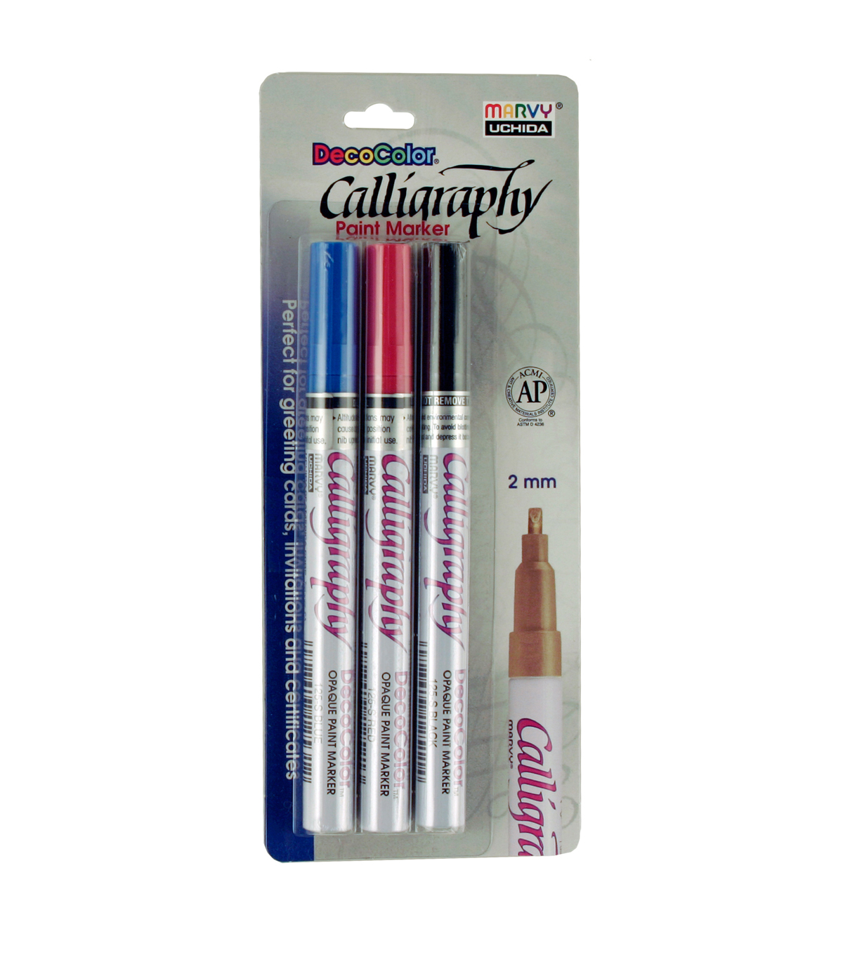 Decocolor® Calligraphy Three Piece Paint Marker Set of 3