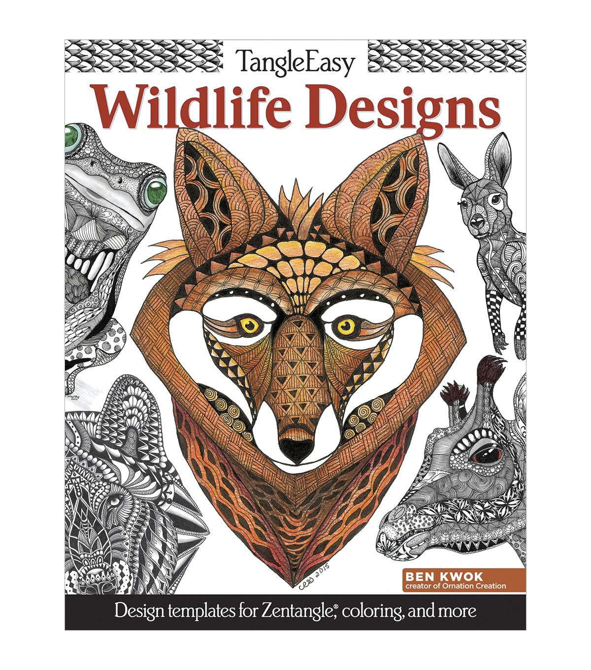 Design Originals Tangle Easy Wildlife Designs Coloring Book