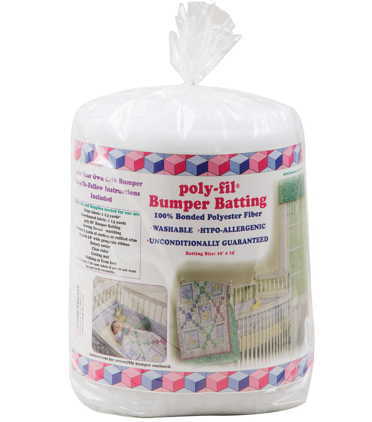"NuFoam™ Baby Bumper Upholstery Batting - 10"" x 5 Yards"