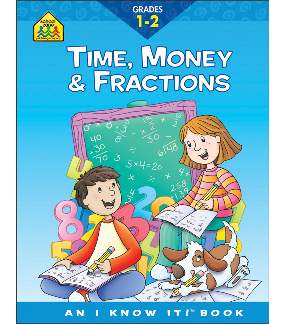 School Zone Curriculum Workbooks-Time, Money, Fractions