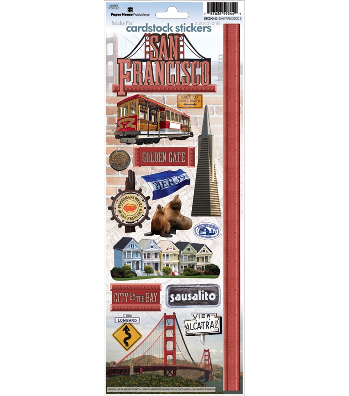 San Francisco Cardstock Sticker