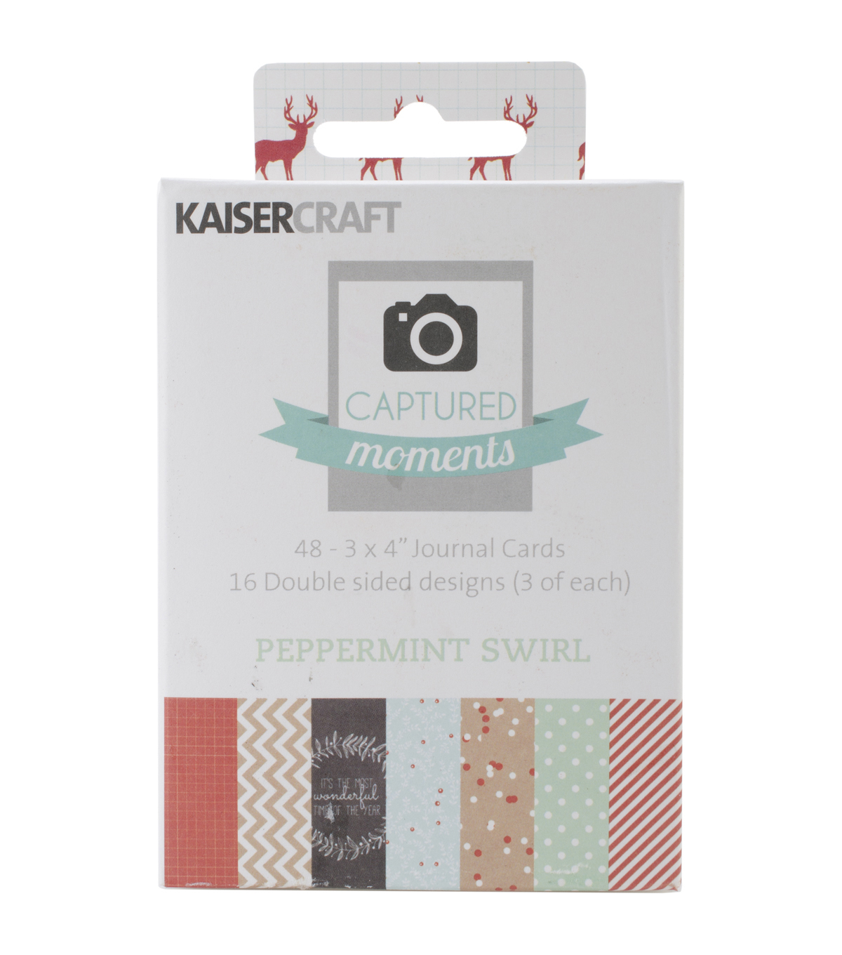 Captured Moments Double-Sided Cards 3\u0022X4\u0022 48/Pkg-Peppermint Swirl