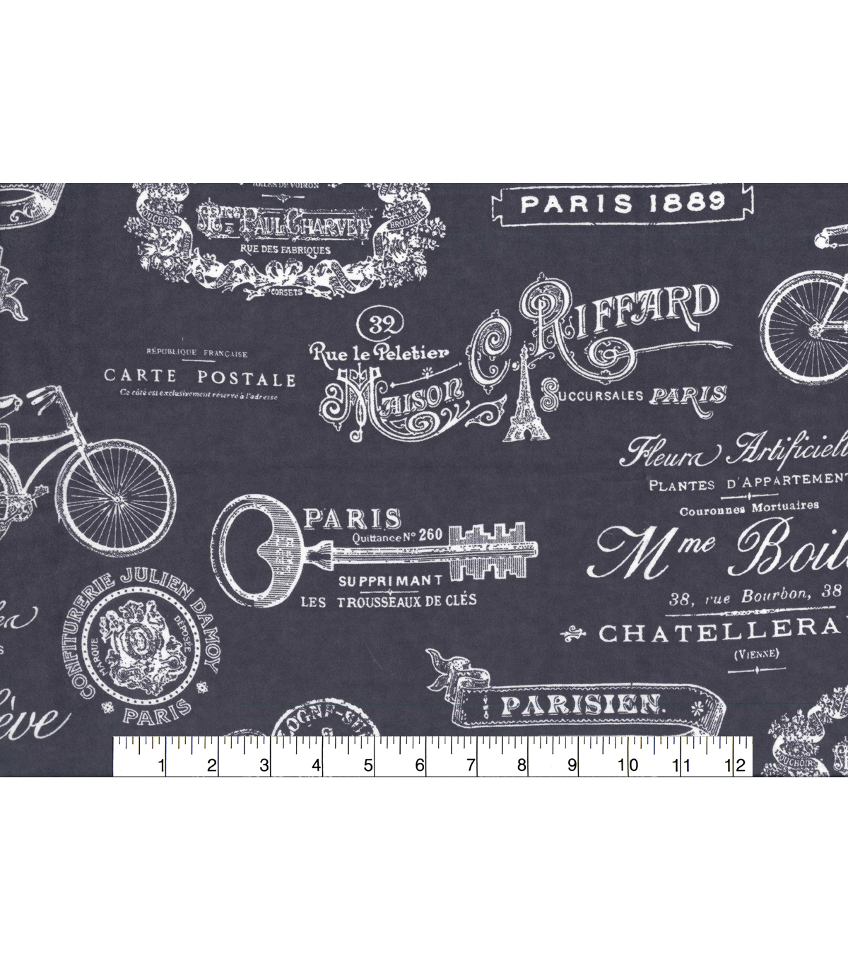 Snuggle Flannel Print Fabric 42\u0022-Paris Script