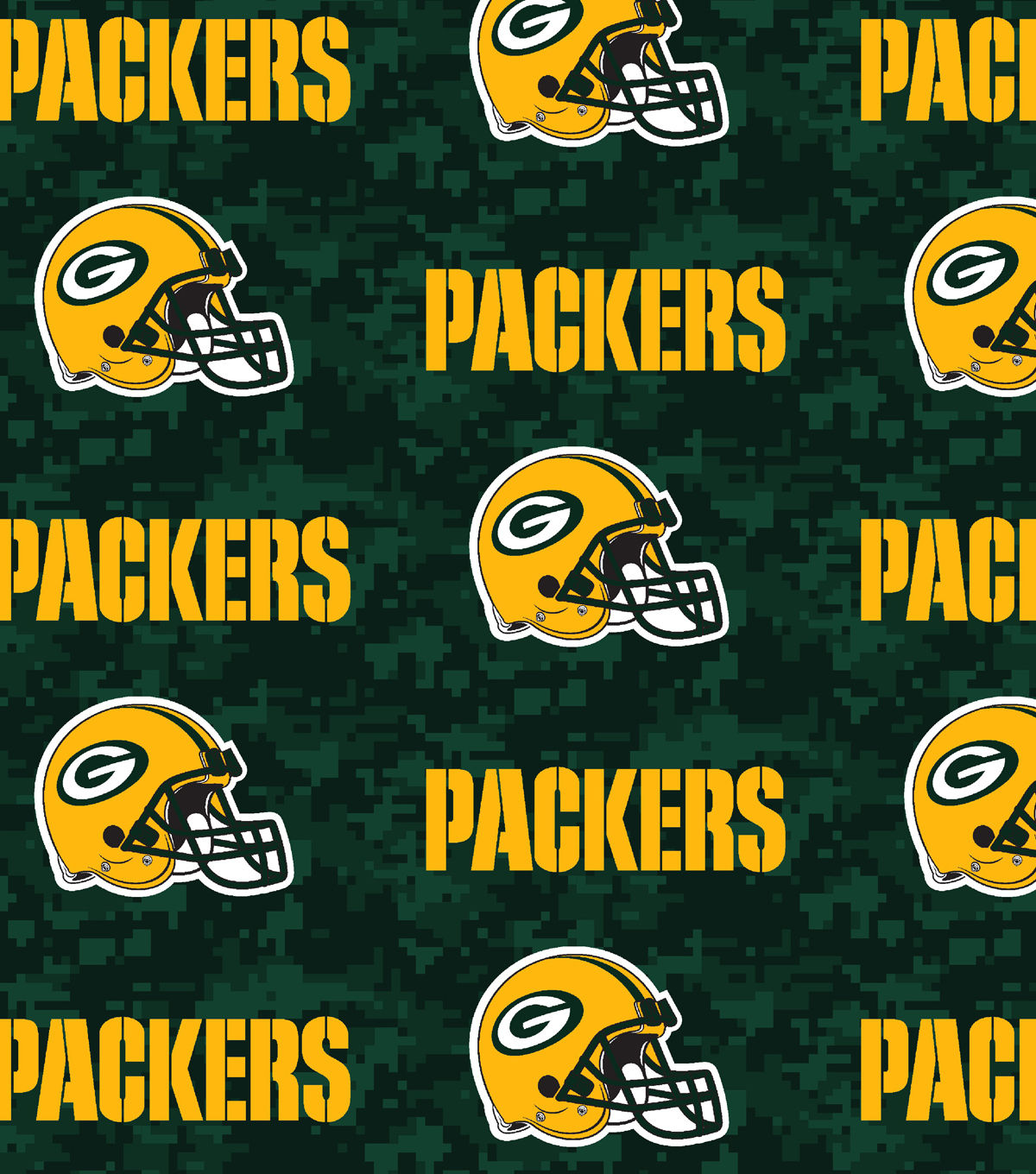 Green Bay Packers Fleece Fabric 58\u0022-Digital