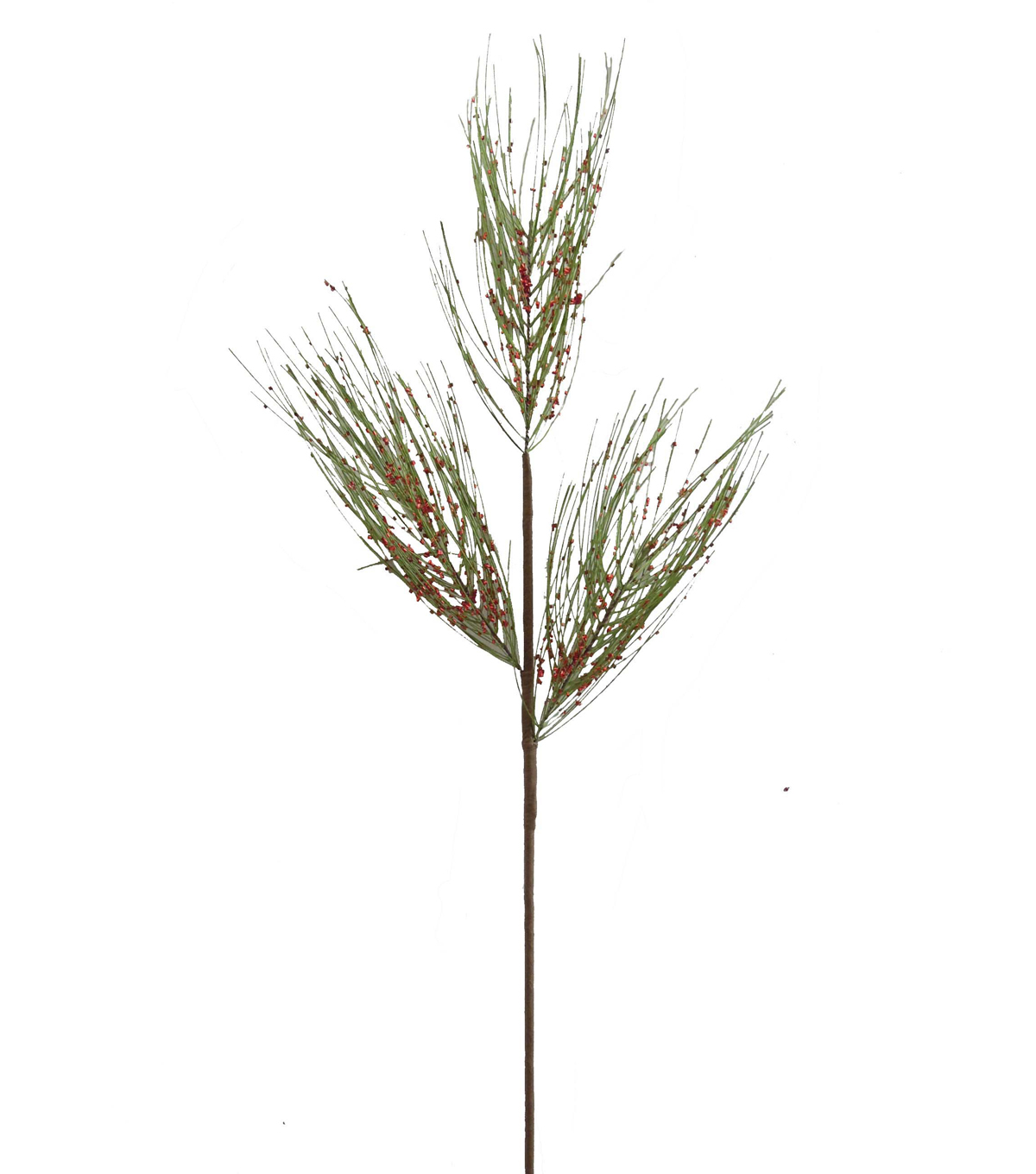 Blooming Holiday 34\u0027\u0027 Glitter Pine Needle Spray-Green