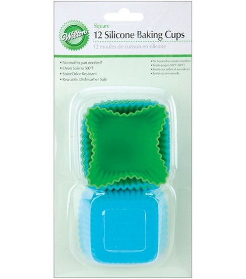 Wilton Silicone Baking Cups-Square