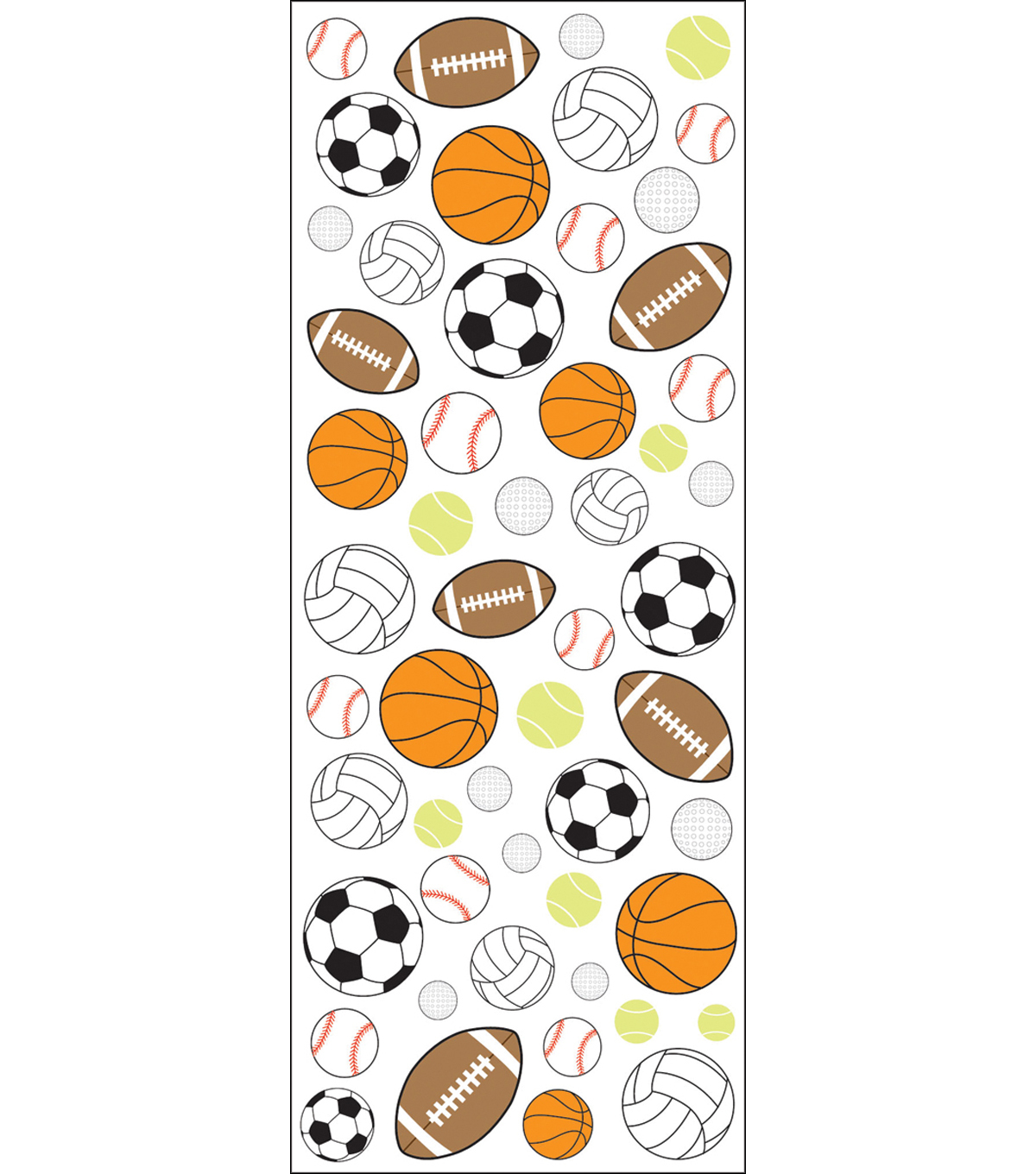 EK Success Puffy Classic Stickers-Sport Balls
