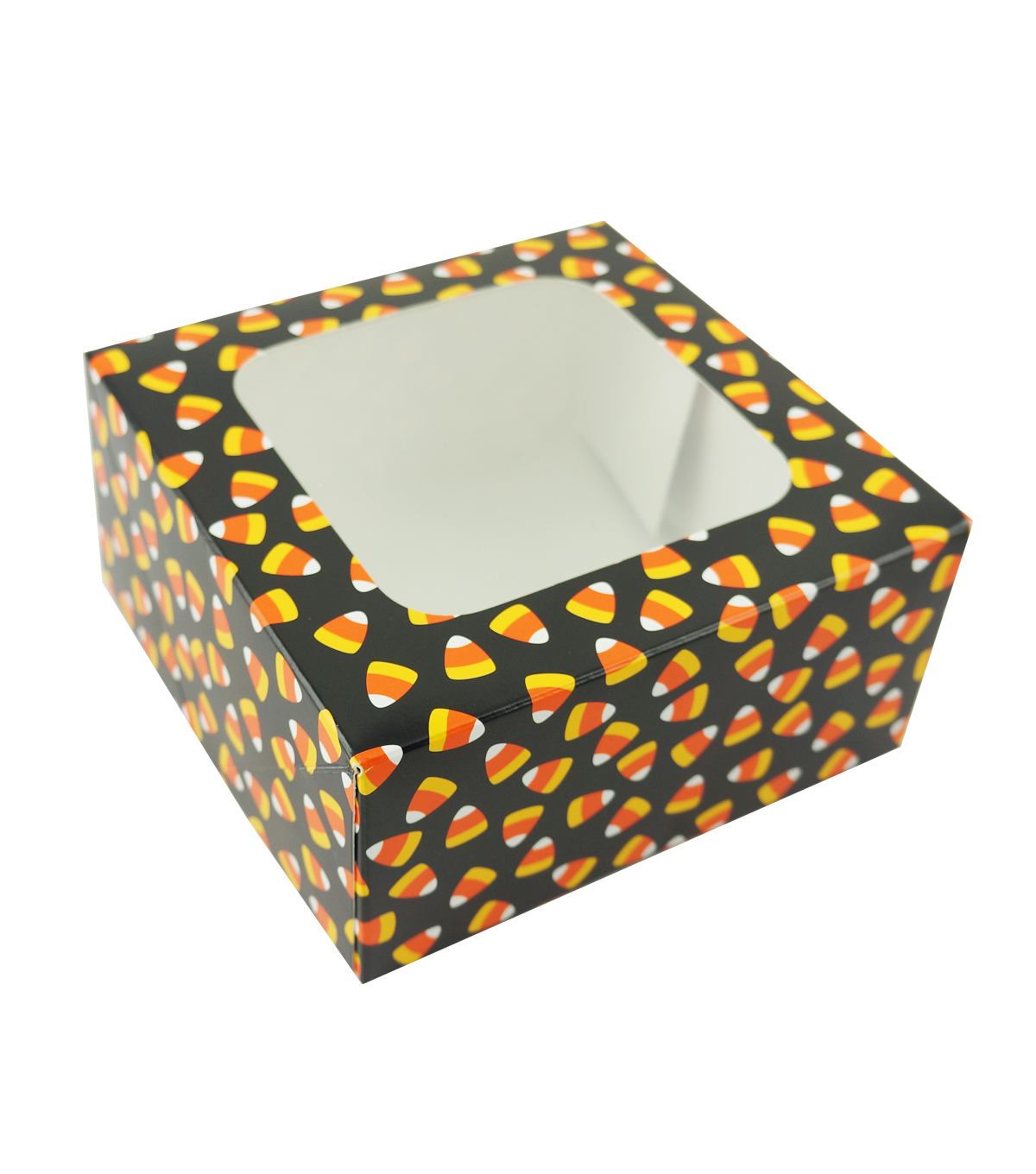 Cheer & Co. Halloween 2 pk Square Boxes with Window-Candy Corn