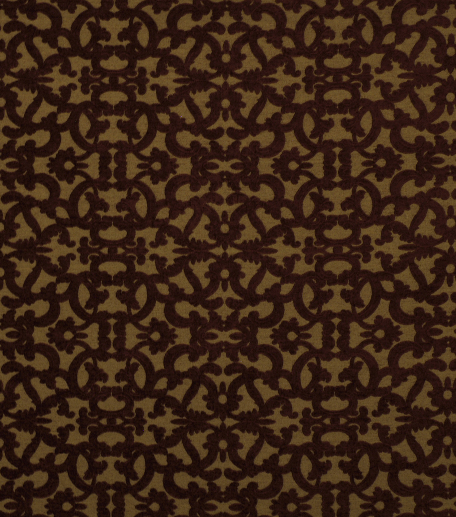 "Home Decor 8""x8"" Fabric Swatch-Robert Allen Tuscan Scroll Cayenne"