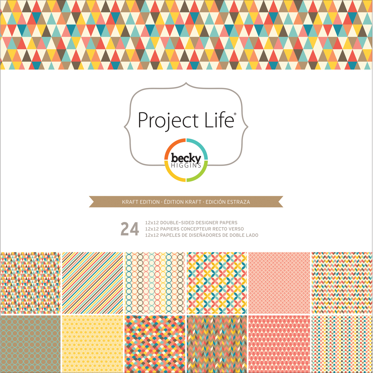 Project Life Kraft Edition Designer Paper Collection Pack